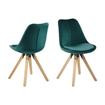 Set 2 scaune Actona Damia Velvet, verde de la Actona