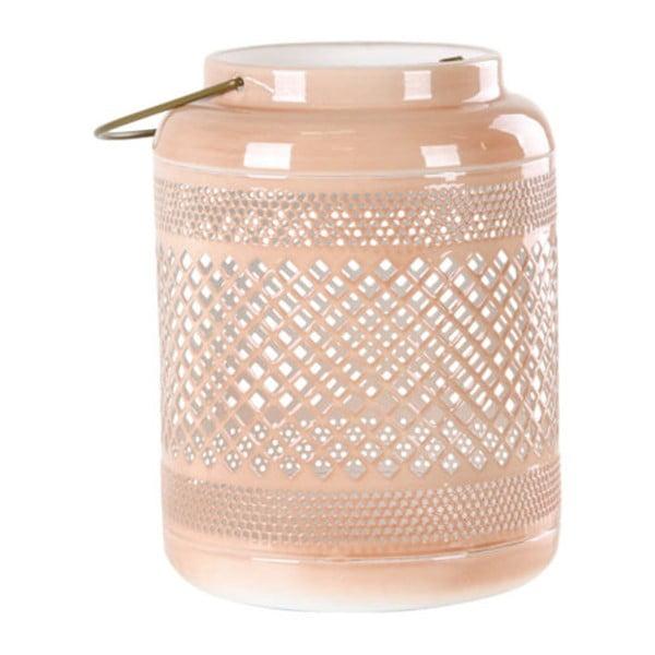 Nice rózsaszín fém lámpás, magasság 21 cm - House Nordic