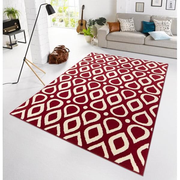Červený koberec Vela, 160x225 cm