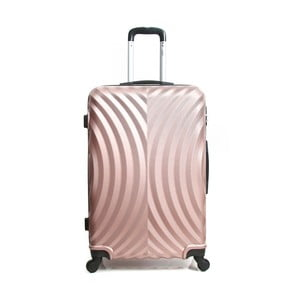 Růžový cestovní kufr na kolečkách Hero Lagos, 60l