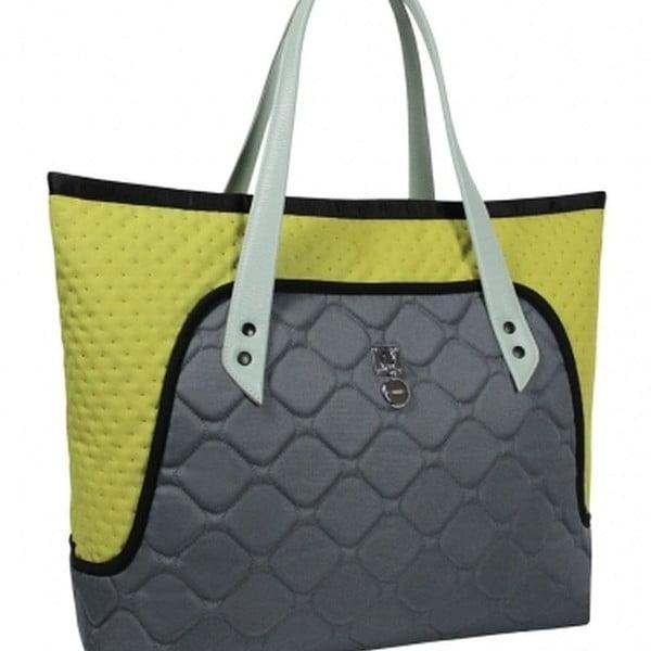 Velká taška na rameno Flower bag, žlutá