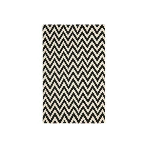 Černý vlněný koberec Safavieh Nelli, 243 x 152 cm