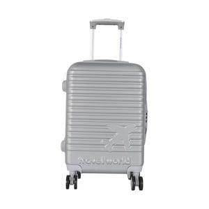 Světle šedé kabinové zavazadlo na kolečkách Travel World Aiport, 44l
