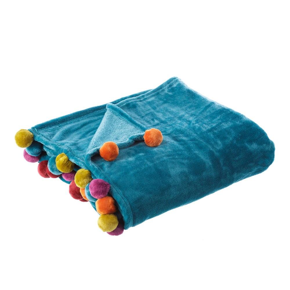Modrá deka Unimasa Heart, 130 x 160 cm