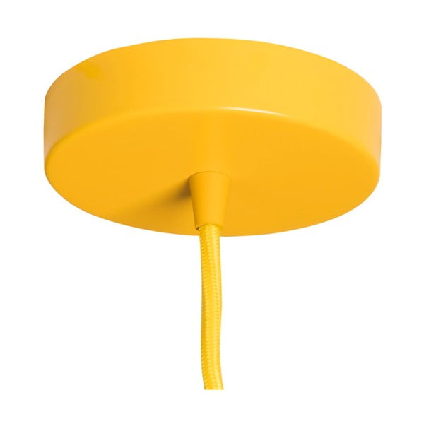 Žluté závěsné svítidlo SULION Glassy
