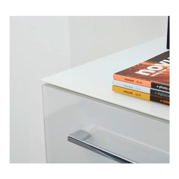Bílá skříňka na kolečkách Germania Monteria