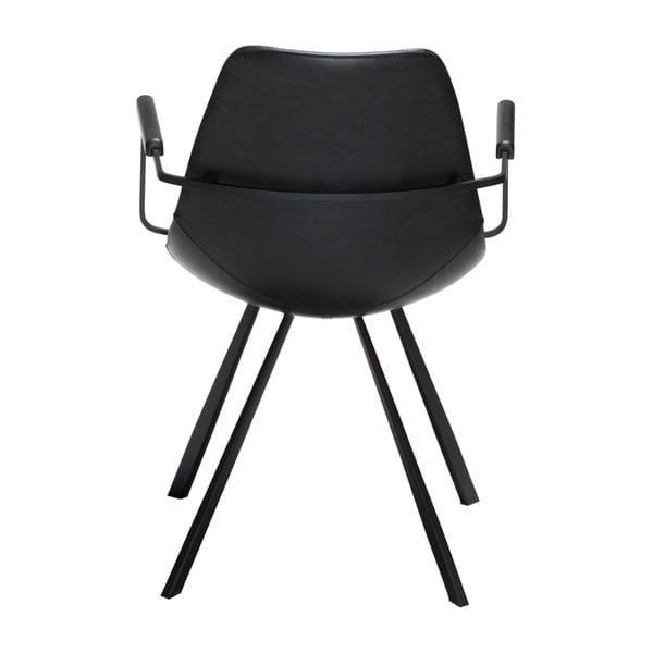 Černá jídelní židle s područkami DAN-FORM Denmark Pitch