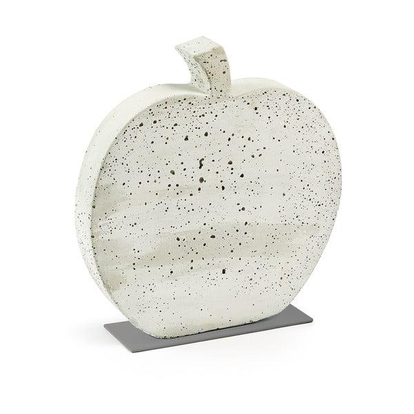 Bílá cementová dekorace La Forma Sens Apple, 37 x 40 cm