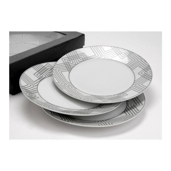 Sada dezertních talířů Geometric,6 cm, 6 ks