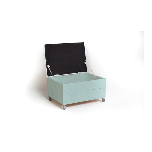 Modrý sedací puf na kolečkách s úložným prostorem Little Nice Things