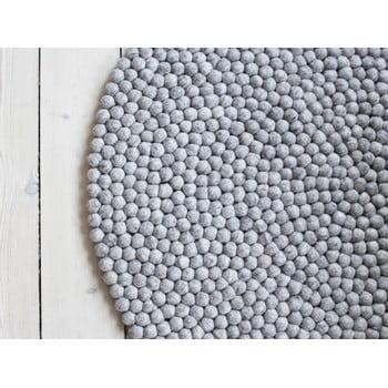 Covor cu bile din lână Wooldot Ball Rugs, ⌀ 120 cm, maro nisip