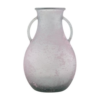 Vază din sticlă reciclată Mauro Ferretti Andora, ⌀ 32 cm, roz de la Mauro Ferretti