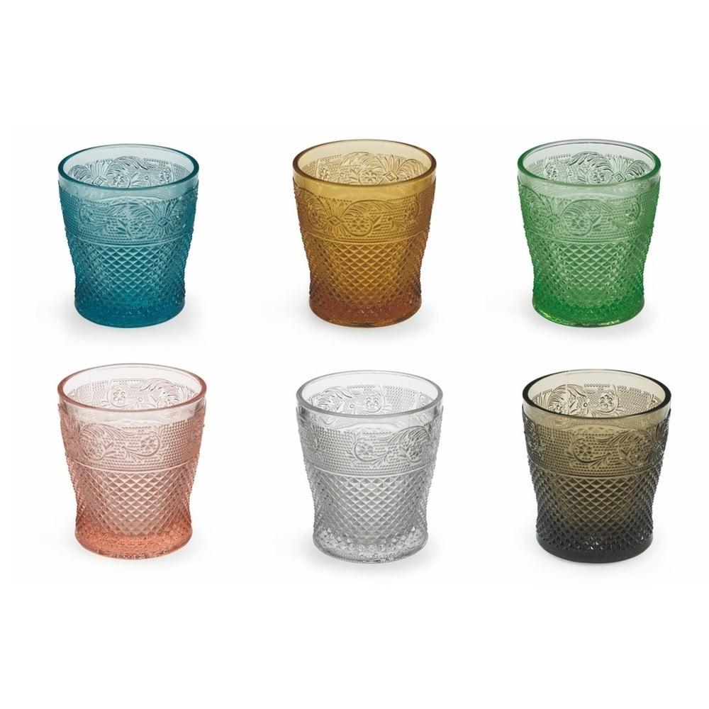 Sada 6 barevných sklenic Villa d'Este Prisma Bicchieri, 260ml