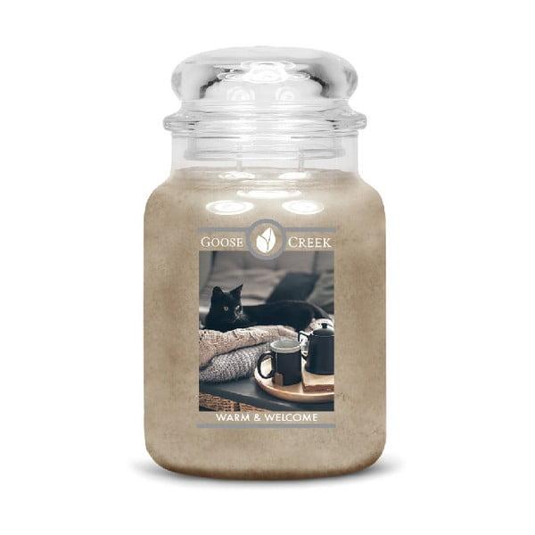 Świeczka zapachowa w szklanym pojemniku Goose Creek Ciepłe powitanie, 150 godz. palenia