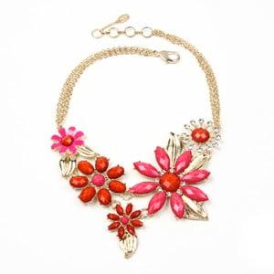 Náhrdelník Della Floral Pink/Red
