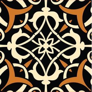 Samolepky Tile Art, black, 4 ks