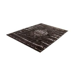 Černý koberec s příměsí bavlny Cotex Centro, 140 x 200 cm
