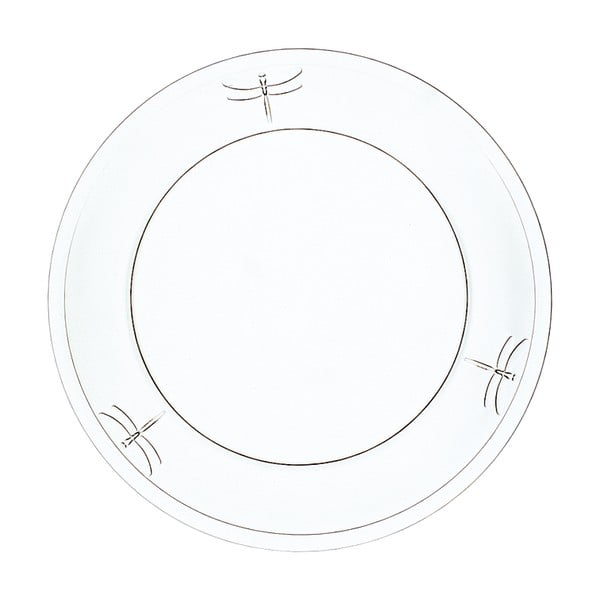 Szklany talerz deserowy La Rochère Libellules, ⌀ 19 cm