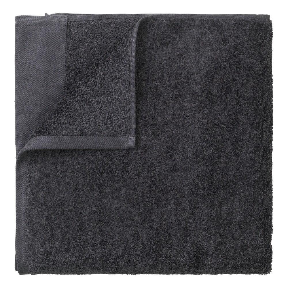 Tmavě šedá bavlněná osuška Blomus, 70x140cm