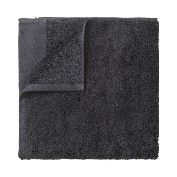 Ciemnoszary bawełniany ręcznik kąpielowy Blomus, 70x140cm