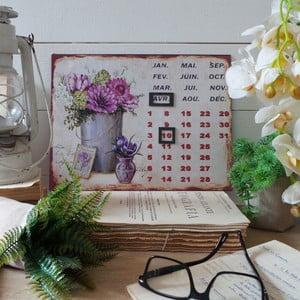 Stolní kovový kalendář Lilac