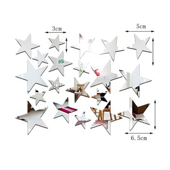 Set 20 autocolante oglindă de perete Ambiance Stars