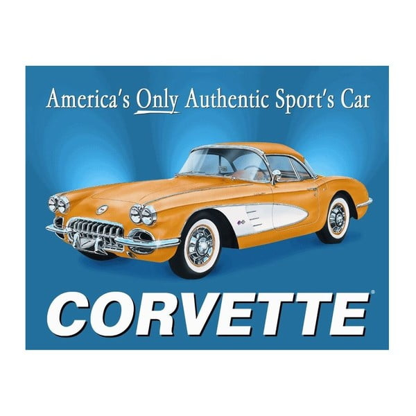 Plechová cedule Corvette, 30x40 cm