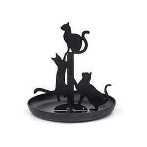 Černý stojan na šperky Kikkerland Cats