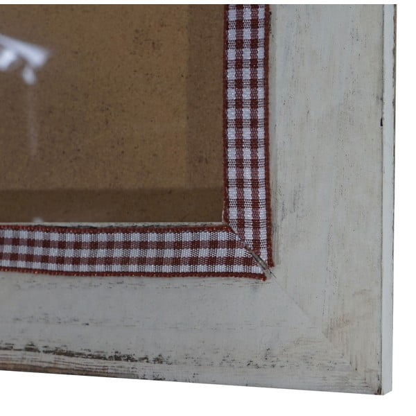 Bílý dřevěný rám na fotografie Mendler Shabby, 21x26cm
