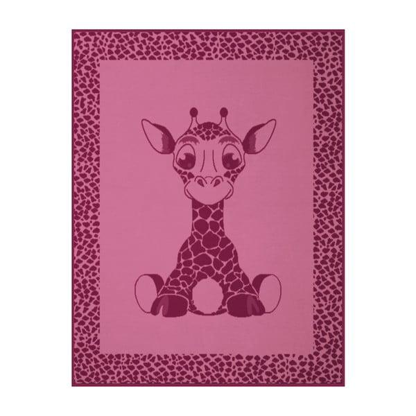 Dětská deka Giraffe Pink, 75x100 cm