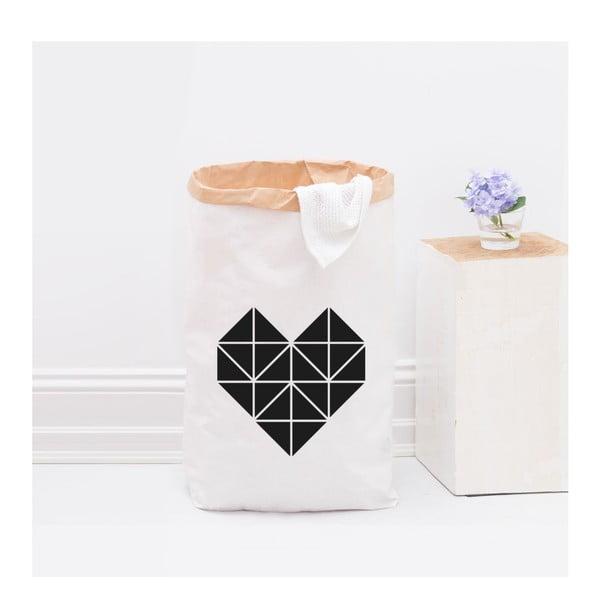 Papírový pytel Origami Herz Schwarz