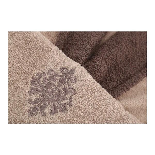 Set hnědého županu a dvou ručníků Giris, vel. univerzální (M/L)