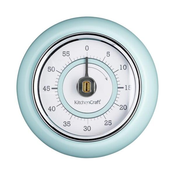 Niebieski magnetyczny minutnik kuchenny Kitchen Craft Living Nostalgia, ⌀ 7,5 cm