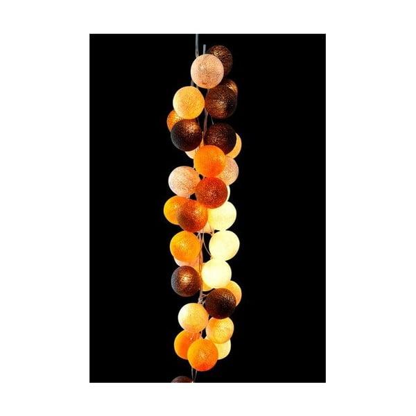 Světelný řetěz Caramel Swirl, 50 ks světýlek