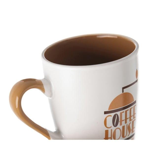 Cană din ceramică Unimasa Coffee House, 350 ml, alb - bej