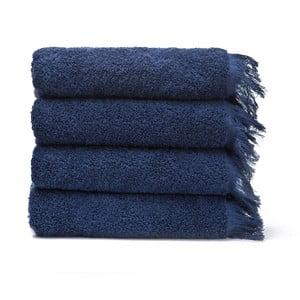 Sada 4 modrých bavlněných ručníků Casa Di Bassi Bath, 50x90cm