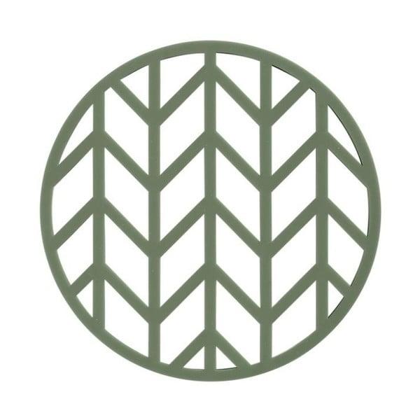 Zelená Suport din silicon pentru oale fierbinți Zone Crop, ⌀ 14,5 cm
