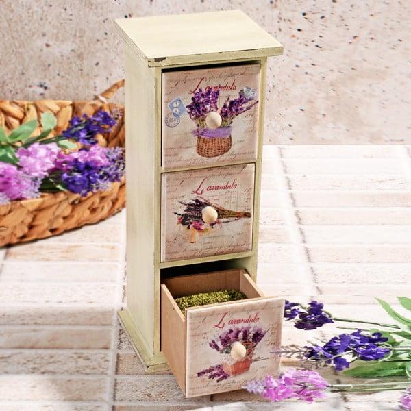 Dřevěná krabička na koření Drawers