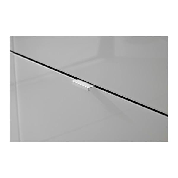 Bílý botník s antracitově šedými detaily Germania Alameda