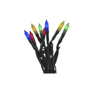 Venkovní světelný LED řetěz s barevnými diodami BestSeason, 160světýlek