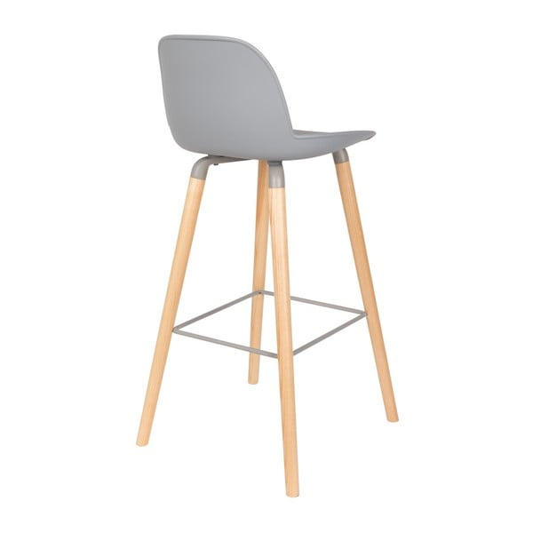 Sada 2 světle šedých barových židlí Zuiver Albert Kuip Light, výška sedu 75 cm