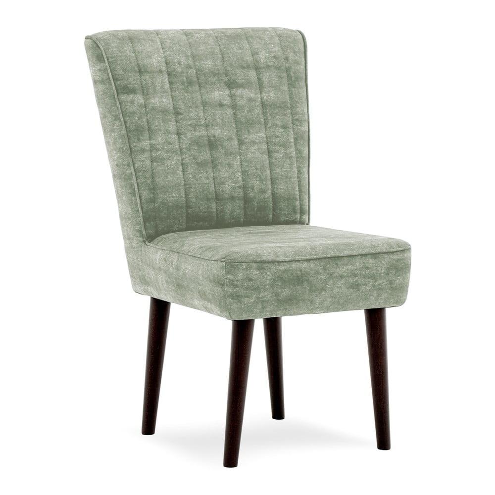 Khaki zelená čalouněná židle Vivonita Leila