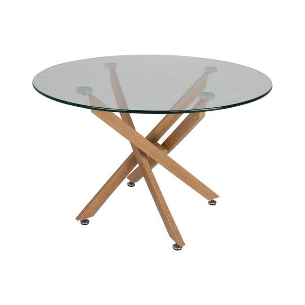 Jídelní stůl se skleněnou deskou Canett Luri, ø 100 cm