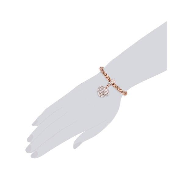 Dámský náramek v barvě růžového zlata Tassioni Esmeralda