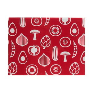 Červené skleněné krájecí prkénko Premier Housewares