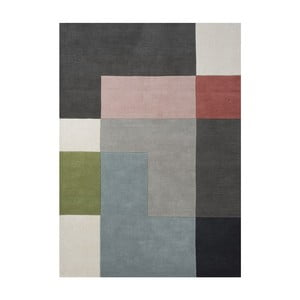 Vlněný koberec Tetris Powder, 200x300 cm