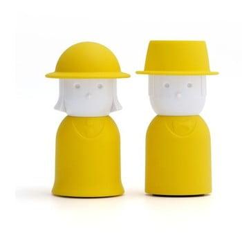 Solniță și piperniță Qualy&CO Mr. Pepper &Mr. Salt, galben imagine