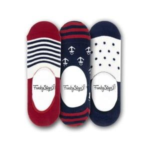 Sada 3 párů nízkých ponožek Funky Steps Me, velikost 39 – 45