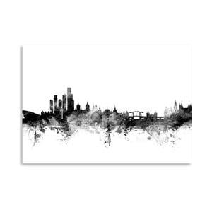 Plakát Americanflat Amsterdam Skyline, 42 x 30 cm