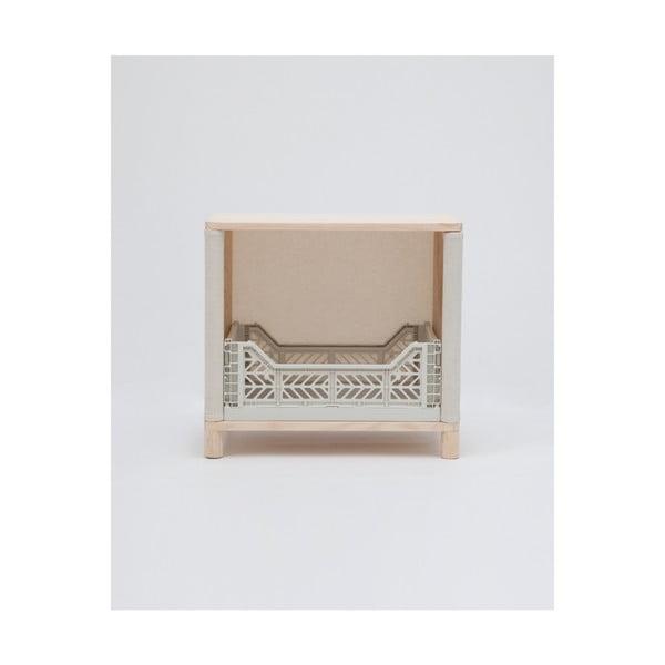 Odkládací stolek zborovicového dřeva Little Nice Things Grey Brunna